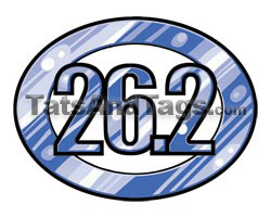 26.2 marathon temporary tattoo
