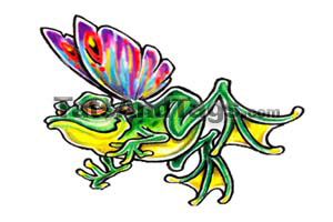 tatuaże wzory żaby