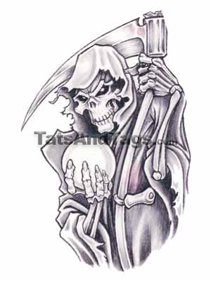 grim reaper tattoos. Grim Reaper Temporary Tattoo