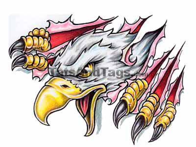 eagles tattoos. Clawing Eagle tattoo