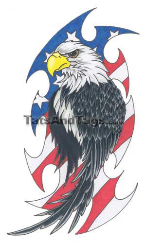 Tribal Eagle Temporary Tattoo