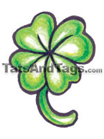 4-leaf clover temporary tattoo