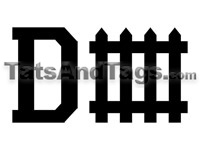 D Fence temporary tattoo