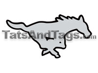 mustangs temporary tattoos