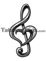 Music Pendants | Music Temporary Tattoo Designs and Jewelry
