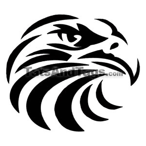 tribal eagle temporary tattoo