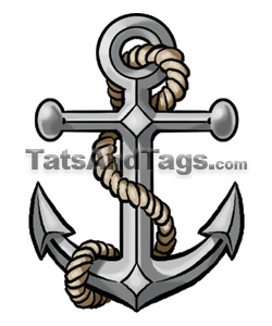 Navy Anchor Tattoo