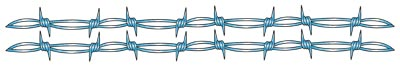 Double Blue Barbed Wire