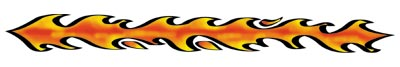Flames Arm Band temporary tattoo