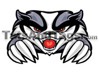 Mascot Temporary Tattoos | School Mascot Face designs