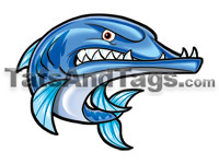 blue barracuda temporary tattoo