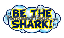 be the shark swim temporary tattoo