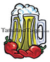 beer and peppers temporary tattoo