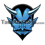 Blue Devil Temporary tattoo