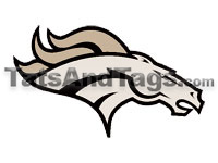 Broncos temporary tattoo