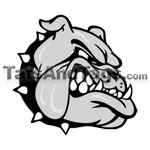 bulldog head temporary tattoo