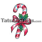 candy cane temporary tattoo