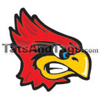 Cardinals temporary tattoo