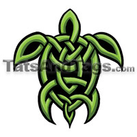 celtic turtle temporary tattoo