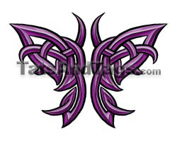 Celtic butterfly temporary tattoo