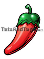 Chili pepper temporary tattoo