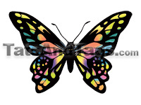 colorful butterfly temporary tattoo