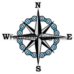 compass star chain tattoo