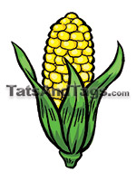 corn temporary tattoo