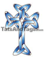 celtic cross temporary tattoo