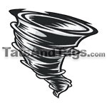 tornado temporary tattoo