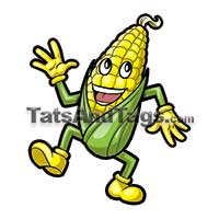 dancing corn temporary tattoo