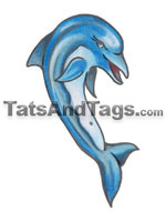 Dolphins temporary tattoo