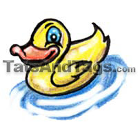 yellow duck temporary tattoo