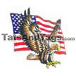flag with eagle temporary tattoo
