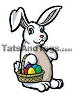Easter bunny temporary tattoo