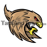 brown falcon temporary tattoo