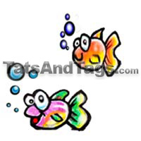 two cute fish temporary tattoo
