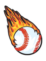 Flaming Baseball Temporary Tattoo| Team Sport Face Tattoo Designs by ...