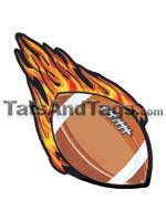 football temporary tattoo