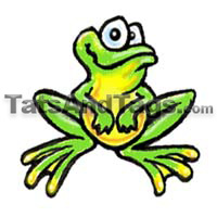 cute frog temporary tattoo