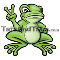 Peace frog temporary tattoo by tattoos by custom tags