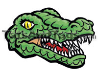 gator head temporary tattoo