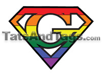 Gay Pride Temporary Tattoo