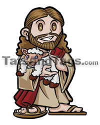 Good Shepherd temporary tattoo