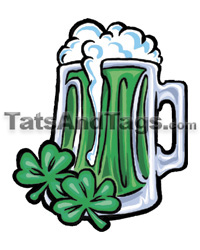 green beer temporary tattoo
