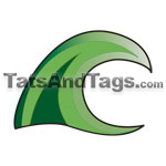 green wave temporary tattoo