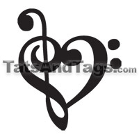 Music Pendants Music Temporary Tattoo Designs And Jewelry