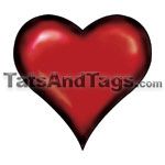 red heart temporary tattoo