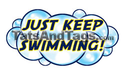 just keep swimming temporary tattoo