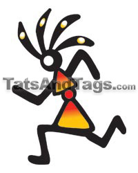 Kokopelli Runner Temporary Tattoo